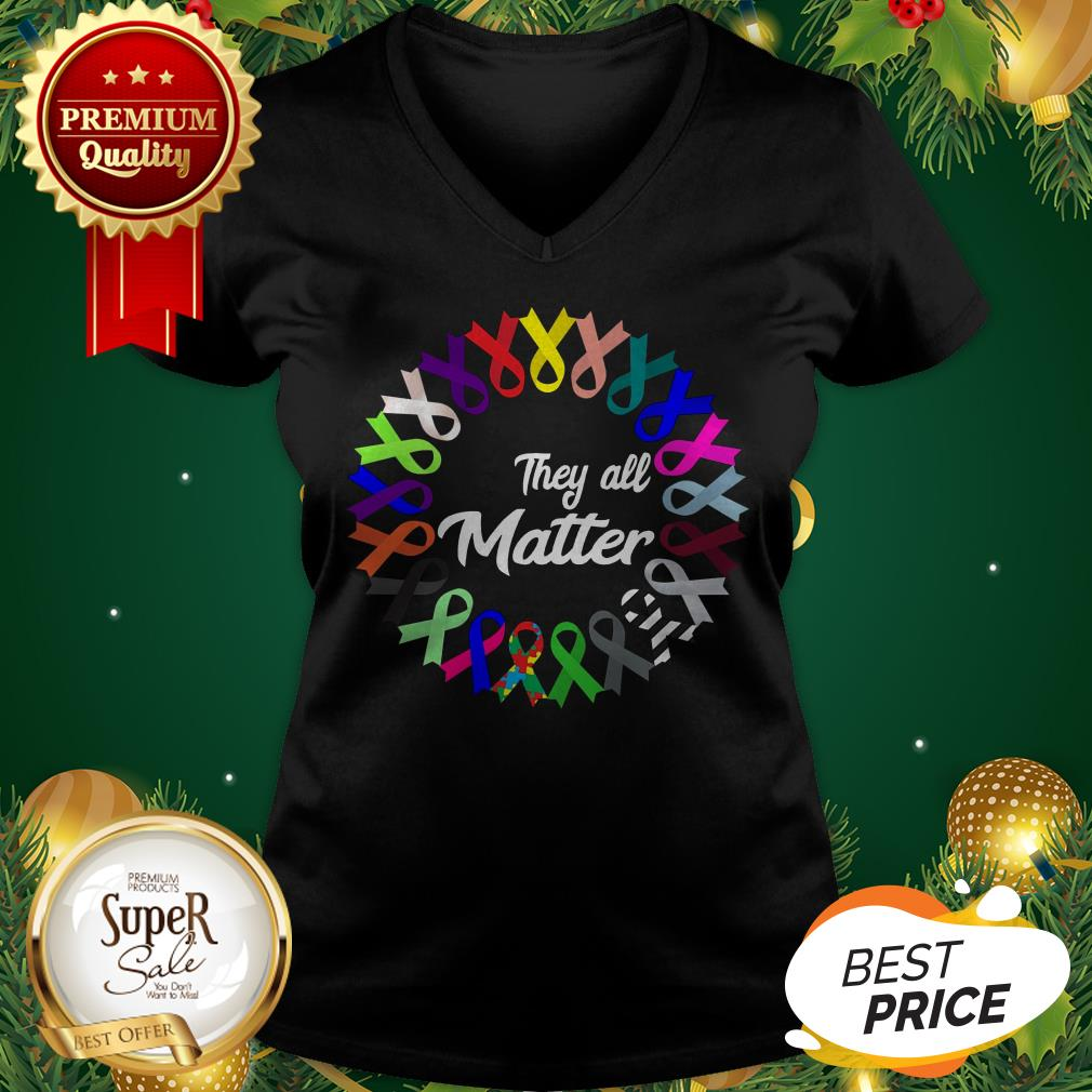 Breast Cancer They All Matter V-neck