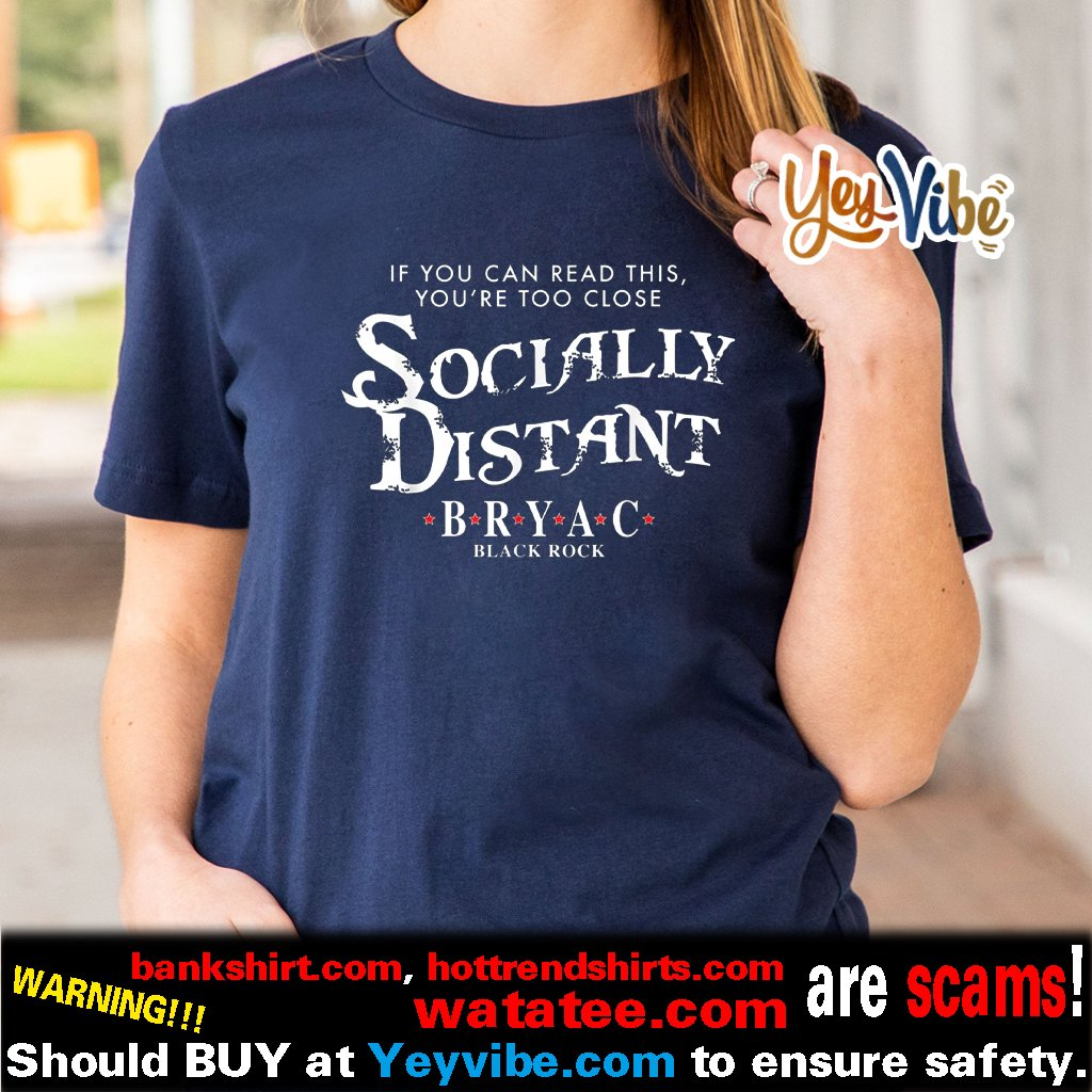 BRYAC Socially Distant Black Rock Shirt