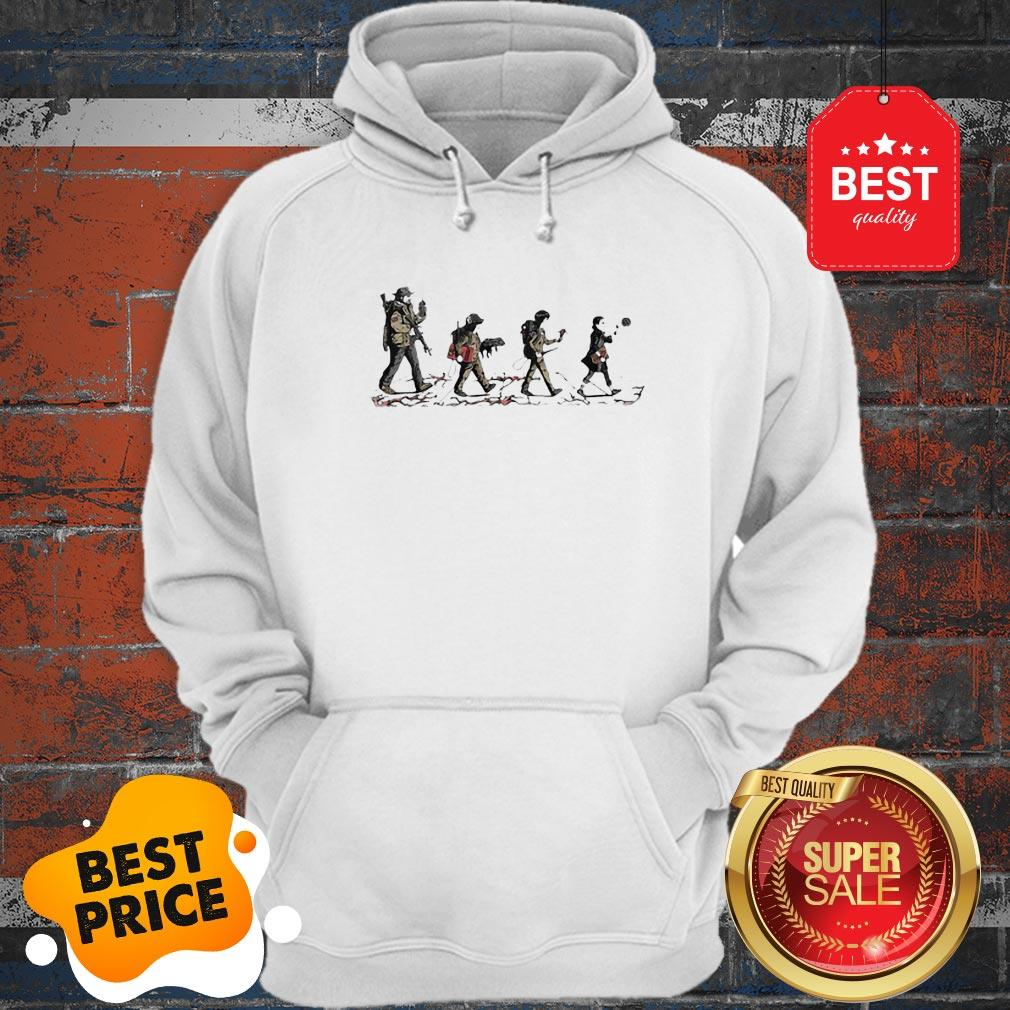 Official Stranger Things Mashup Abbey Road The Beatles Hoodie