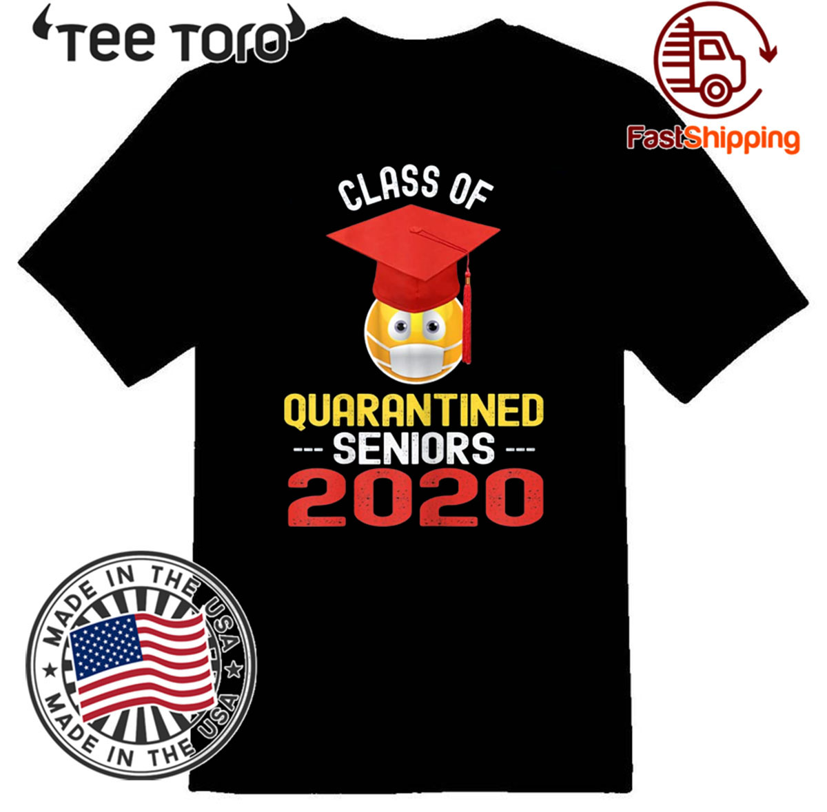 Class of 2020 Quarantined Seniors Flu Virus Quarantine Grad For T-Shirt