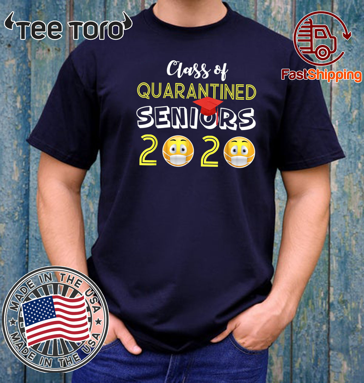 Class of 2020 Quarantined Seniors Flu Virus Quarantine Limited Edition T-Shirt