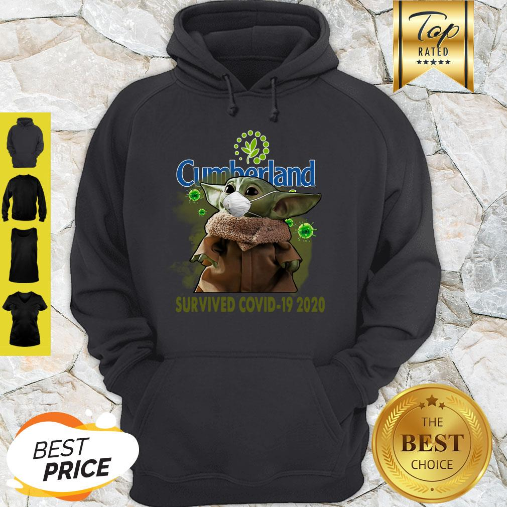 Cute Baby Yoda Cumberland Farms Survived Covid-19 2020 Hoodie