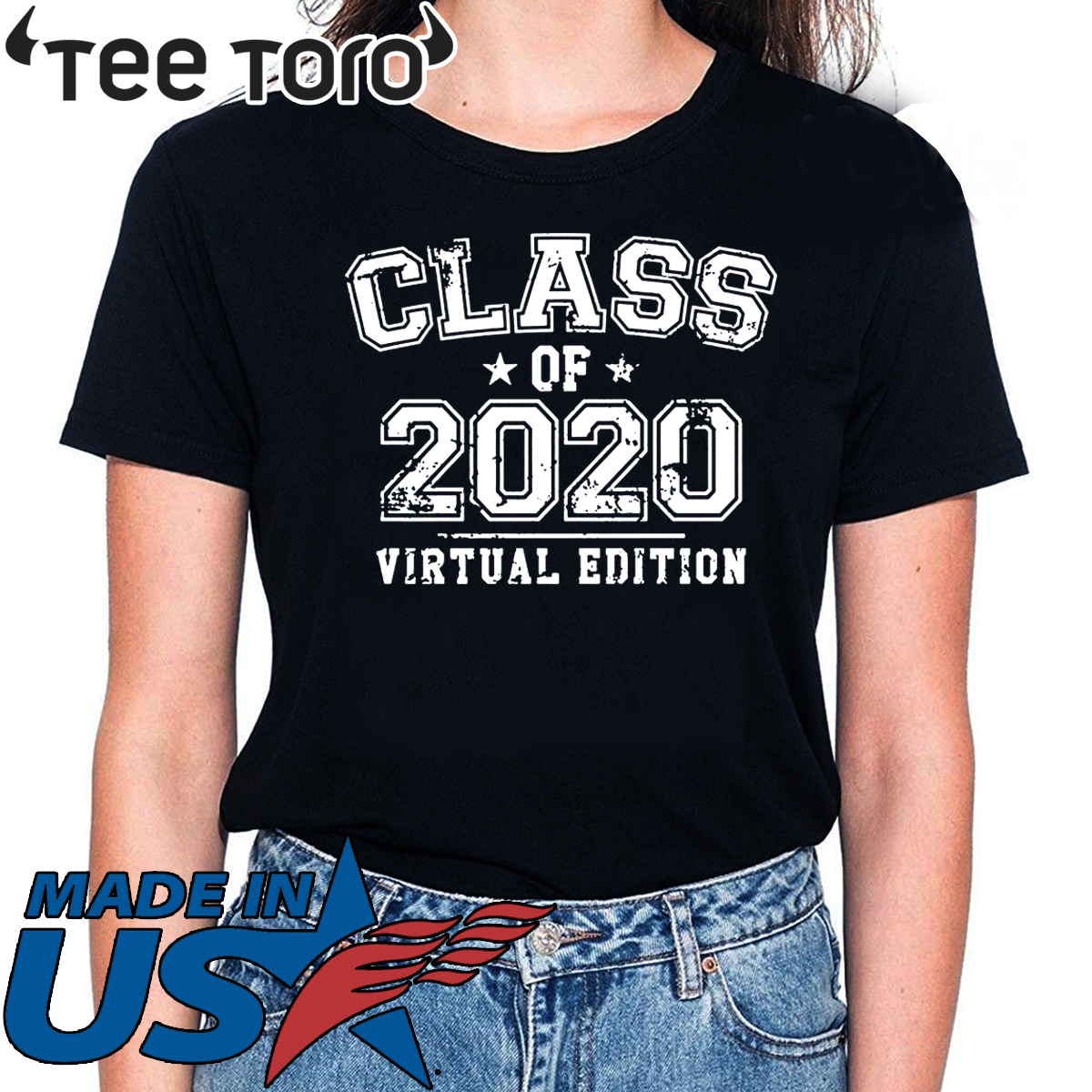 Distressed Class of 2020 - Virtual Edition Hot T-Shirt