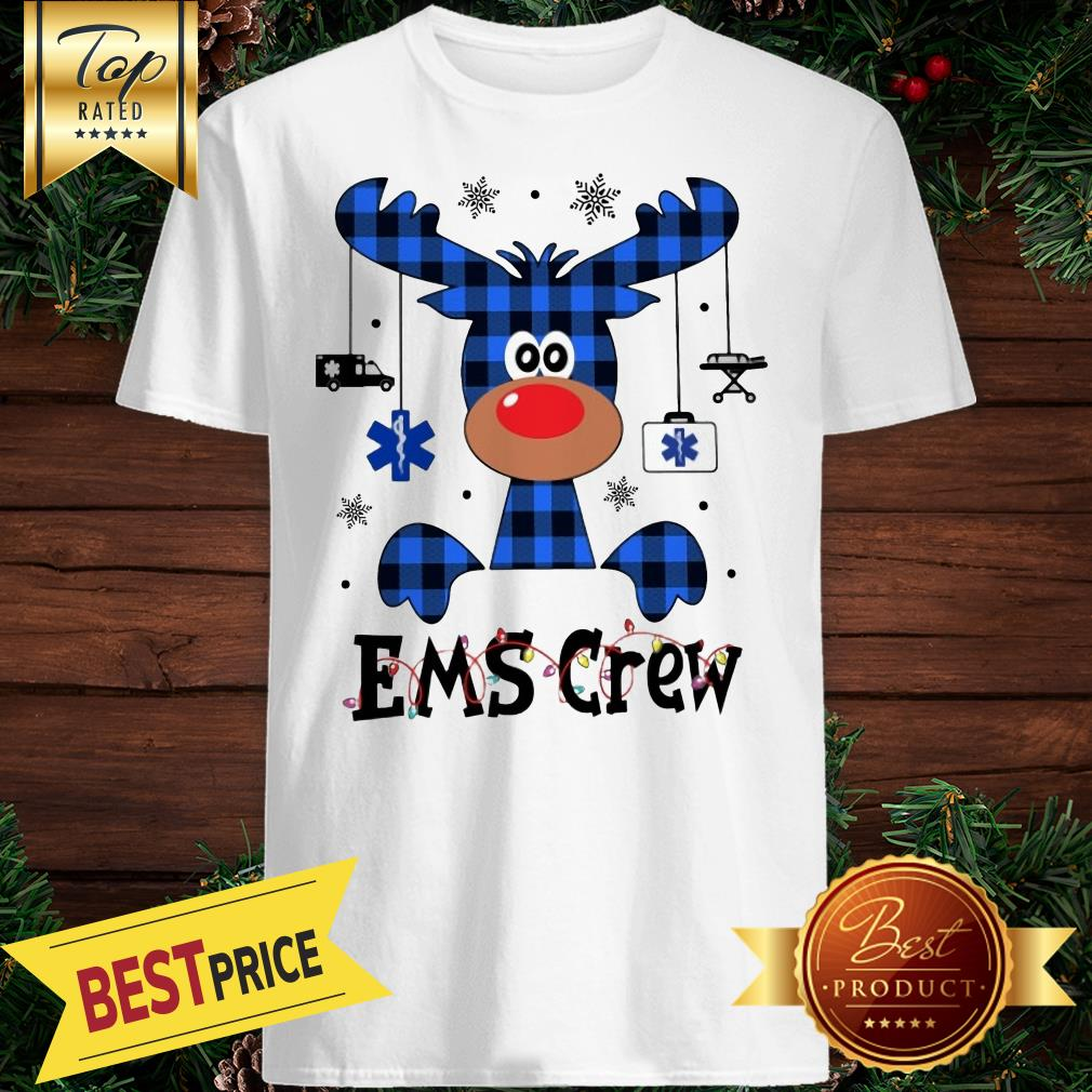 EMS Crew Christmas Reindeer With Gift Classic Shirt