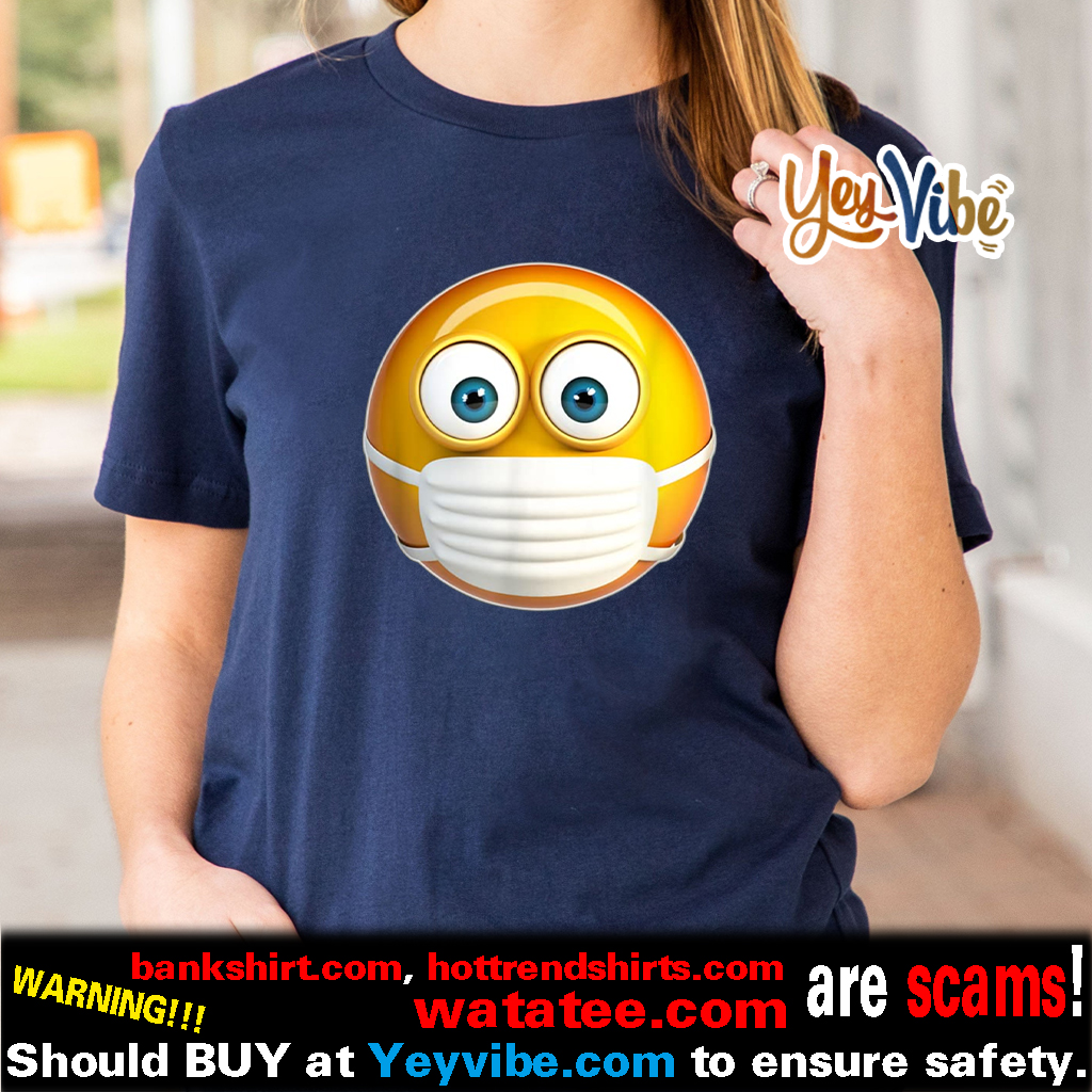 Face Medical Mask Emojis Surgical Health Mask Against Virus Shirt