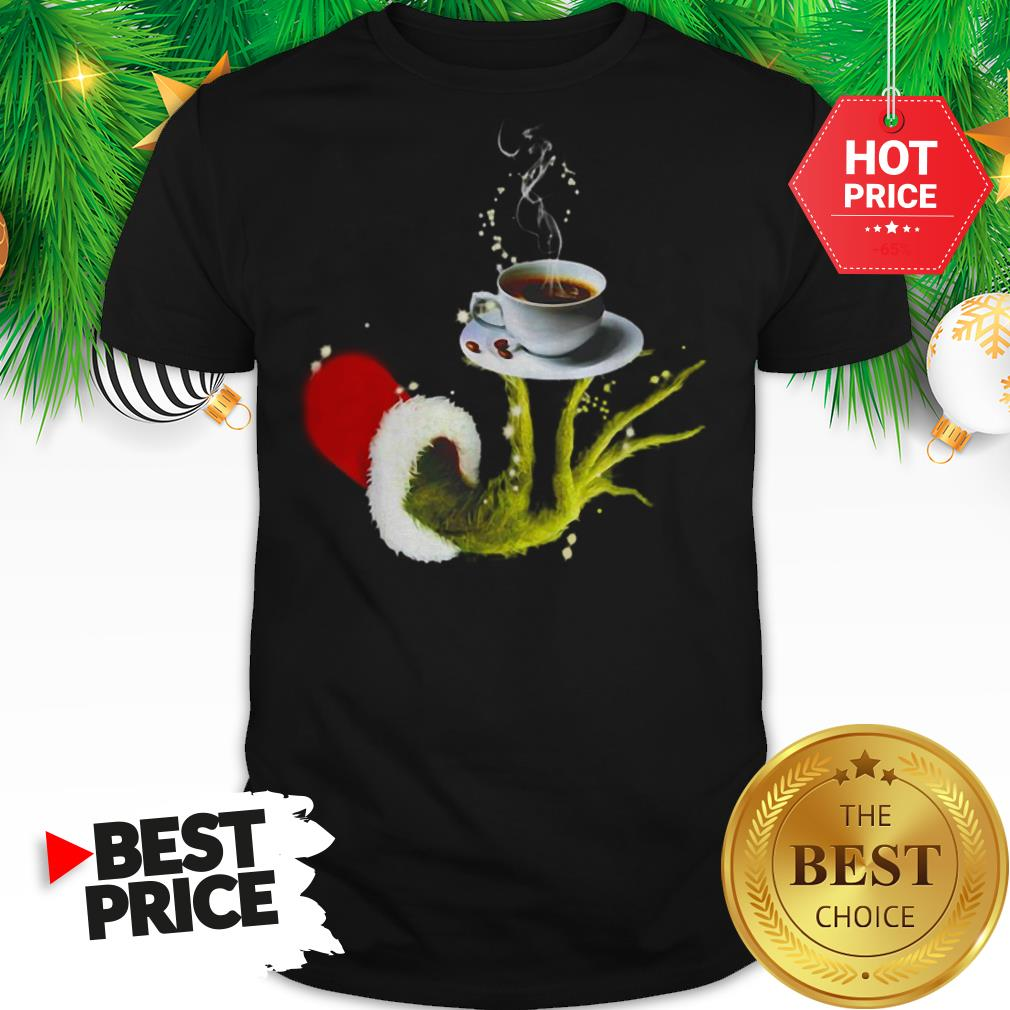 Funny Grinch Holding Coffee Cup Christmas Shirt