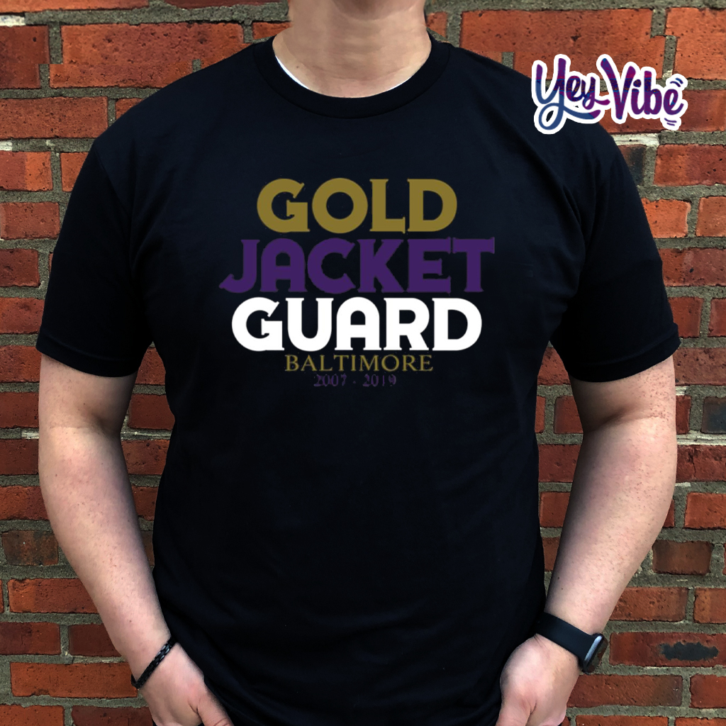Gold Jacket Guard Baltimore T Shirts