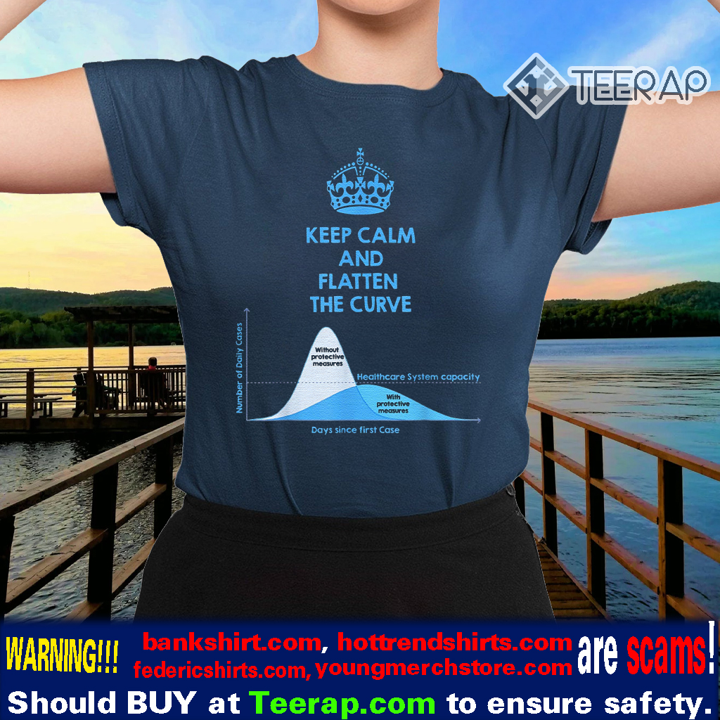 Keep Calm and Flatten the Curve Shirts