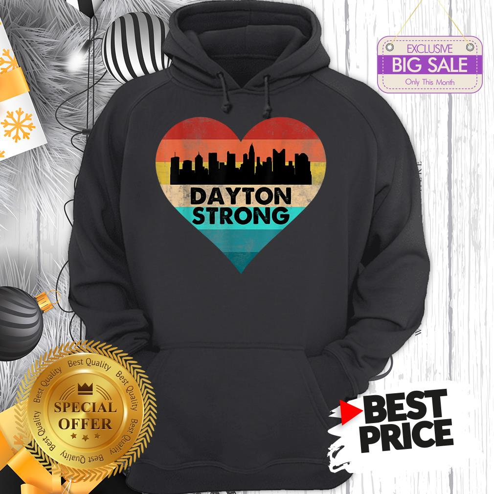Lovely Love Dayton Strong Ohio Heart Vintage Hoodie