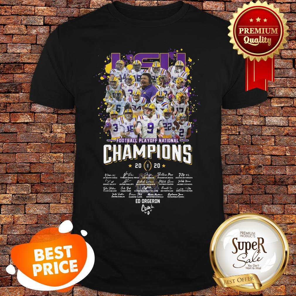 LSU Football Playoff National Champions Signature Shirt