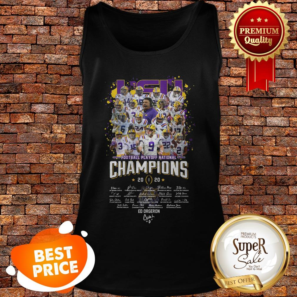 LSU Football Playoff National Champions Signature Tank Top