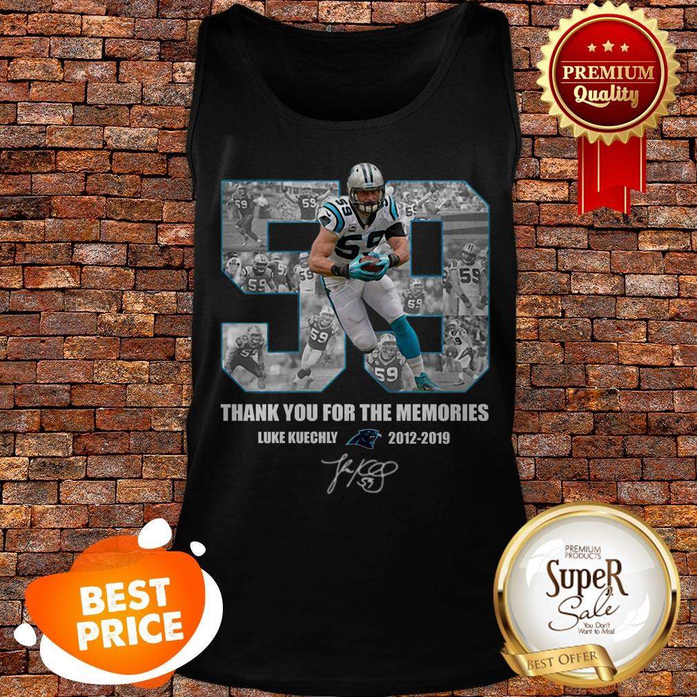 Luke Kuechly 59 Thank You For The Memories Carolina Panthers Tank Top