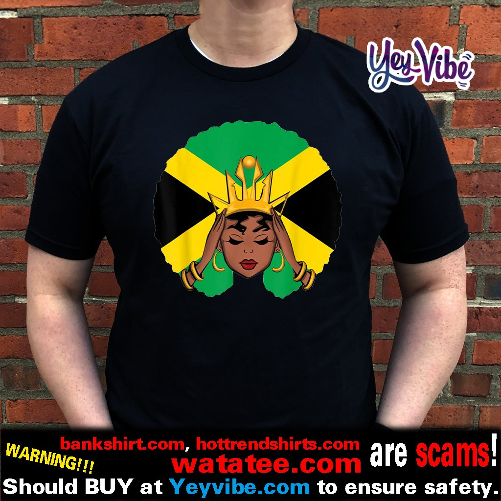 Melanin Poppin Jamaican Queen With Crown Shirts