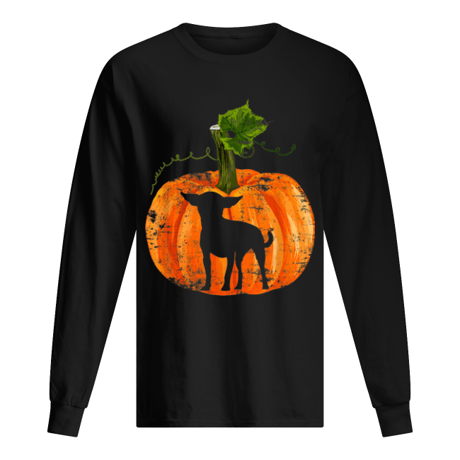 Nice Chihuahua in Pumpkin Funny Halloween Dog Lovers Gift Men's Long Sleeved