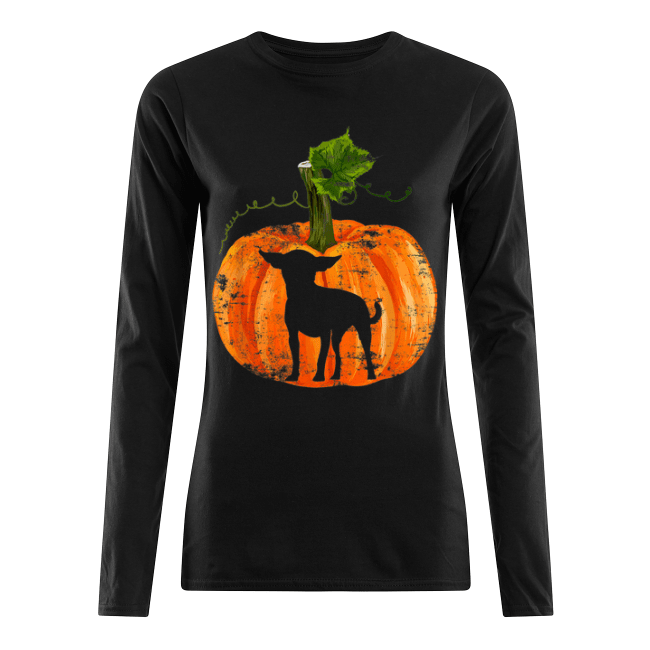 Nice Chihuahua in Pumpkin Funny Halloween Dog Lovers Gift Women's Long Sleeved