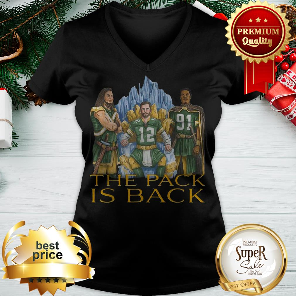 Nice Green Bay Packers The Pack Is Back V-neck
