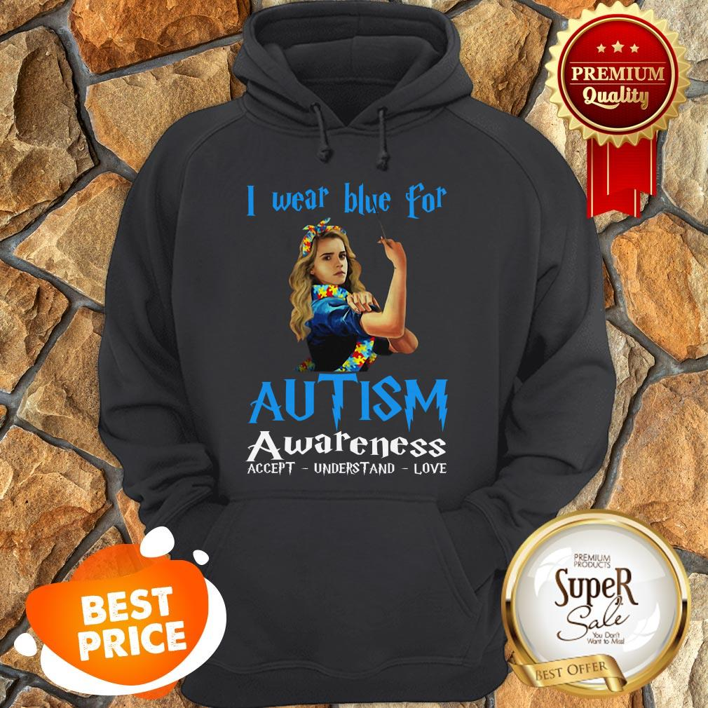 Nice Hermione Granger I Wear Blue For Autism Awareness Harry Potter Hoodie