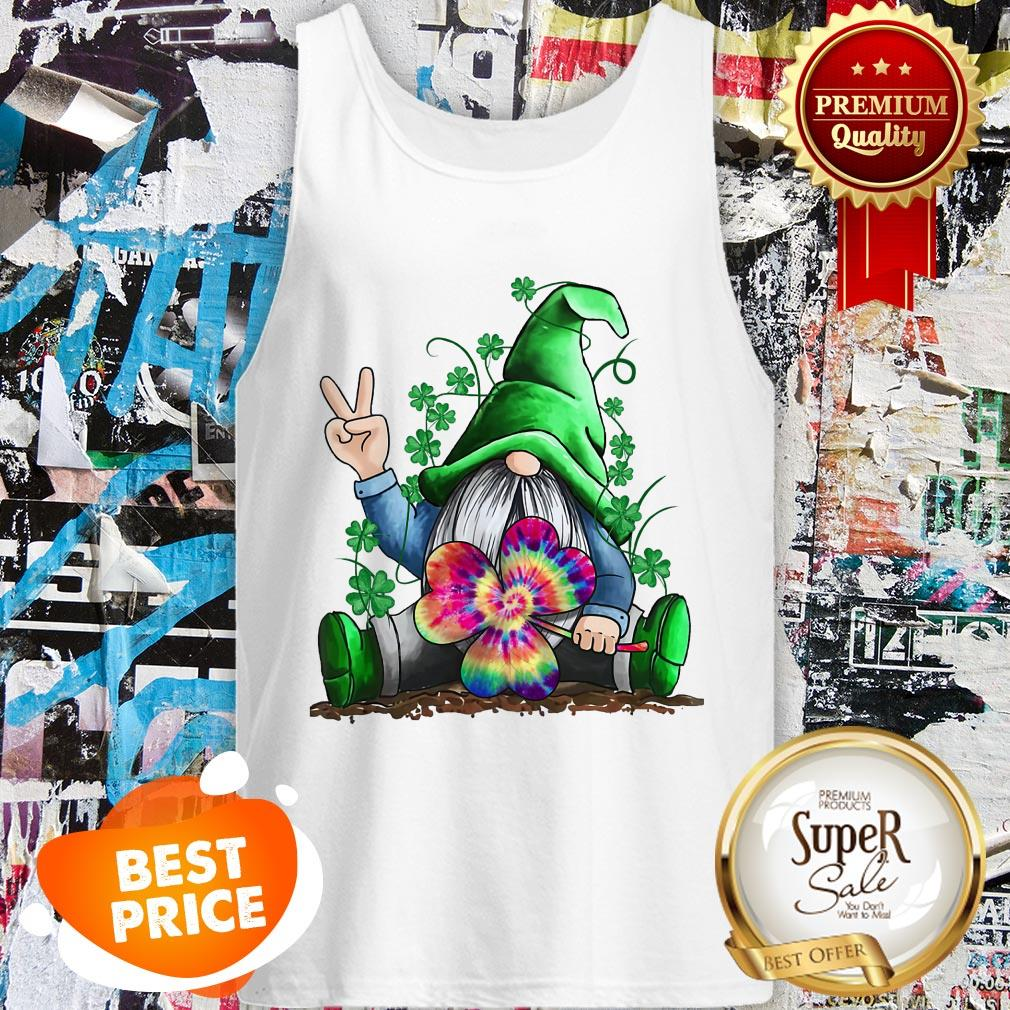 Nice Hippie Gnome St. Patrick's Day Tank Top