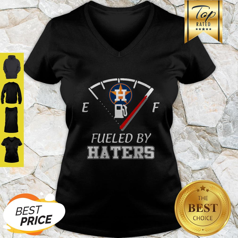 Nice Houston Astros Logo Fueled By Haters V-neck