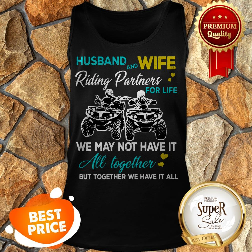 Nice Husband And Wife Riding ATVS Partners For Life Together Tank Top