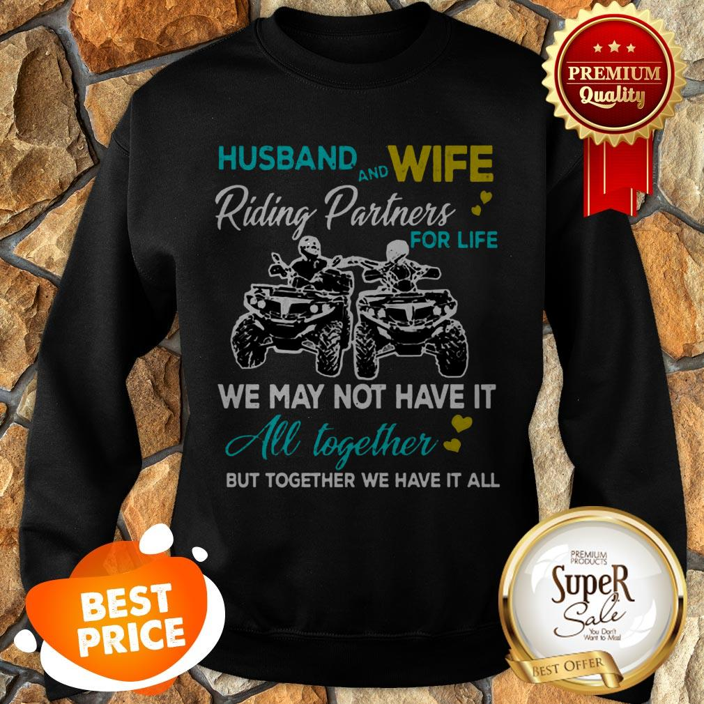 Nice Husband And Wife Riding ATVS Partners For Life Together Sweatshirt