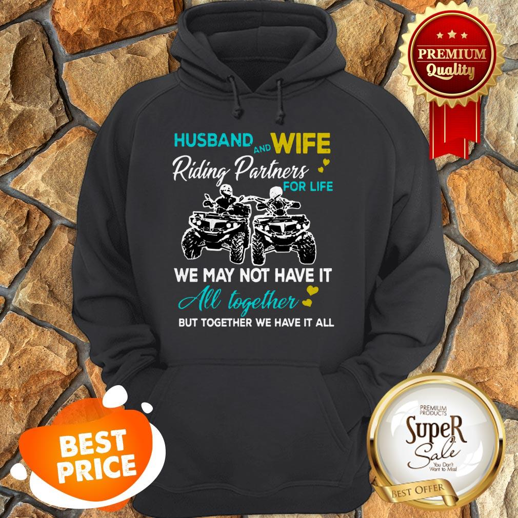 Nice Husband And Wife Riding ATVS Partners For Life Together Hoodie