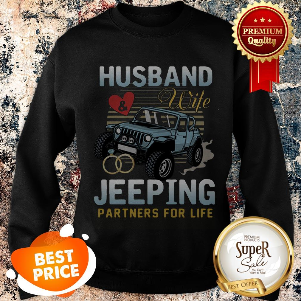 Nice Husband Wife Jeeping Partners For Life Sweatshirt