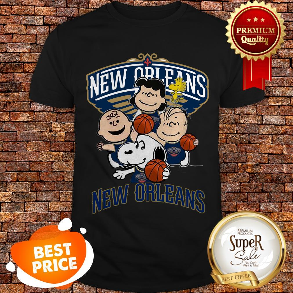 Nice Peanut Characters Mashup New Orleans Pelicans Shirt