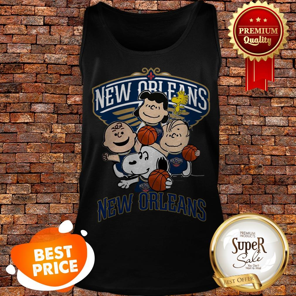 Nice Peanut Characters Mashup New Orleans Pelicans Tank Top