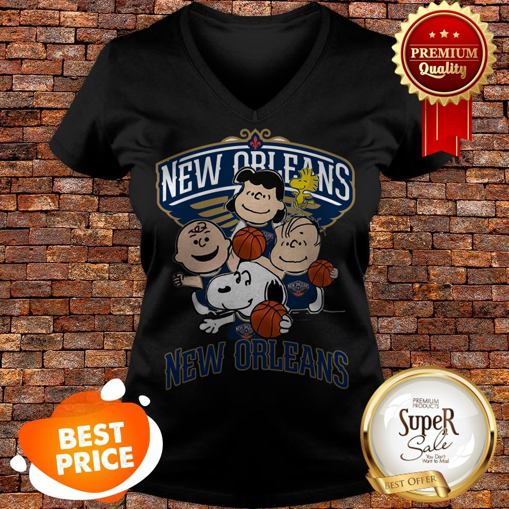Nice Peanut Characters Mashup New Orleans Pelicans V-neck