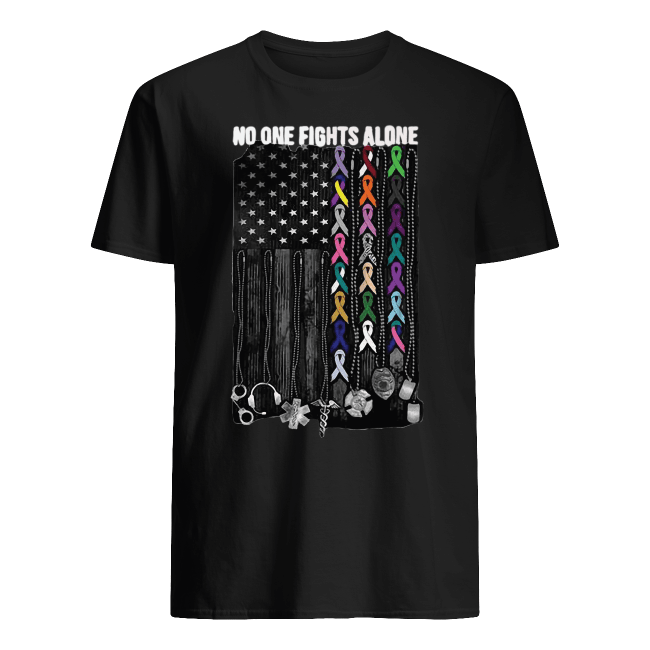 No one fights alone Breast Cancer Awareness Shirt