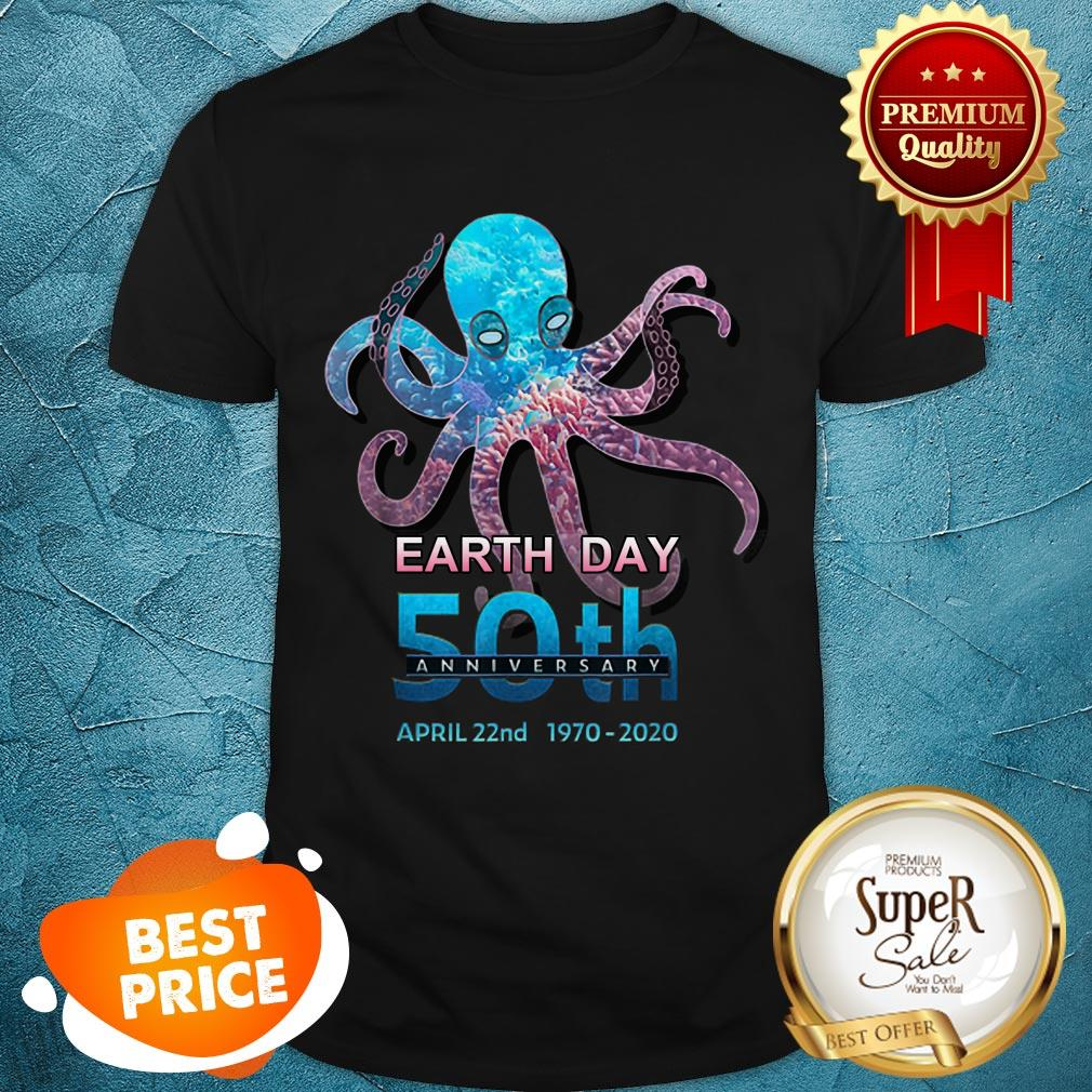 Octopus Silhouette Earth Day 50th Anniversary April 22nd Shirt