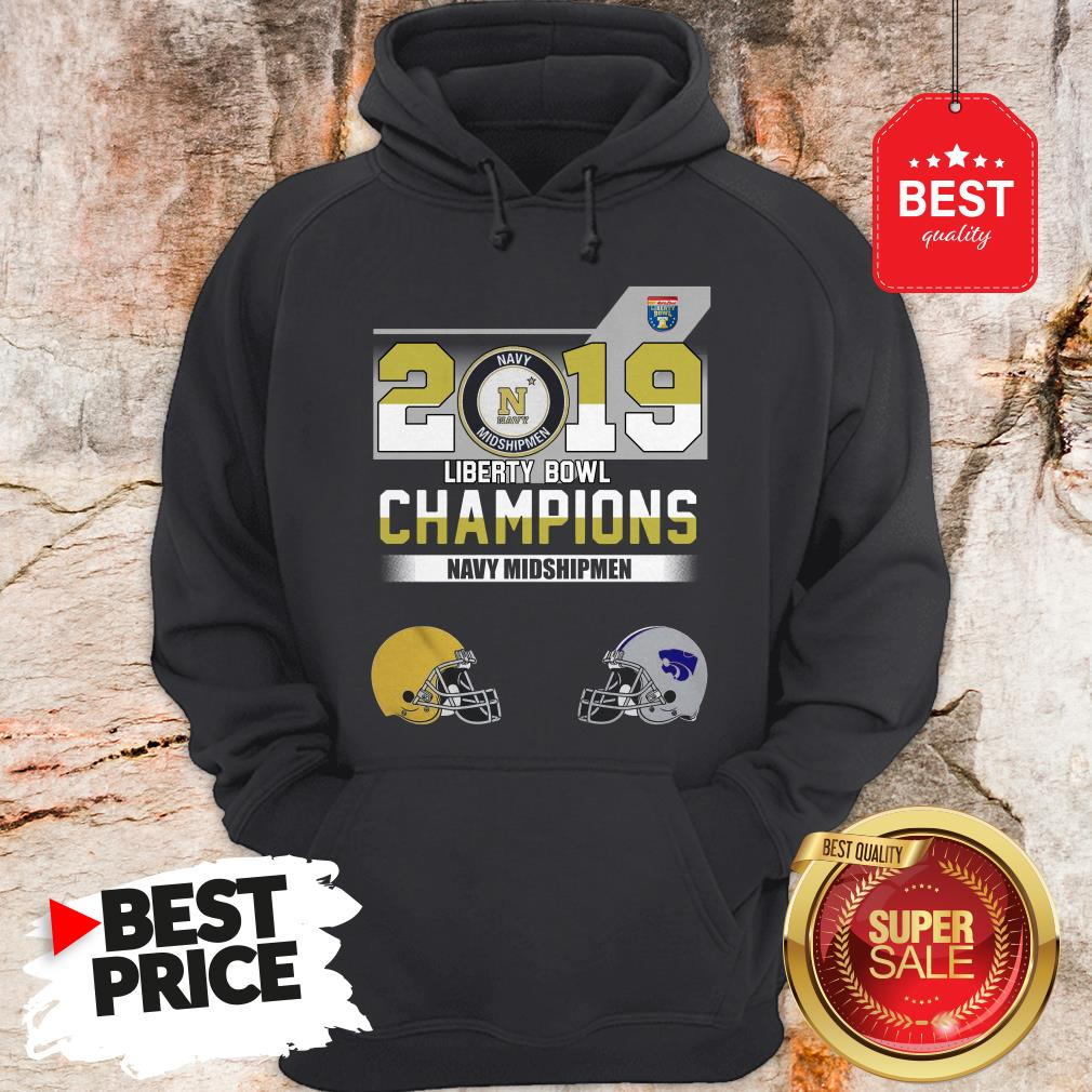 Official 2019 Liberty Bowl Champions Navy Midshipmen Hoodie