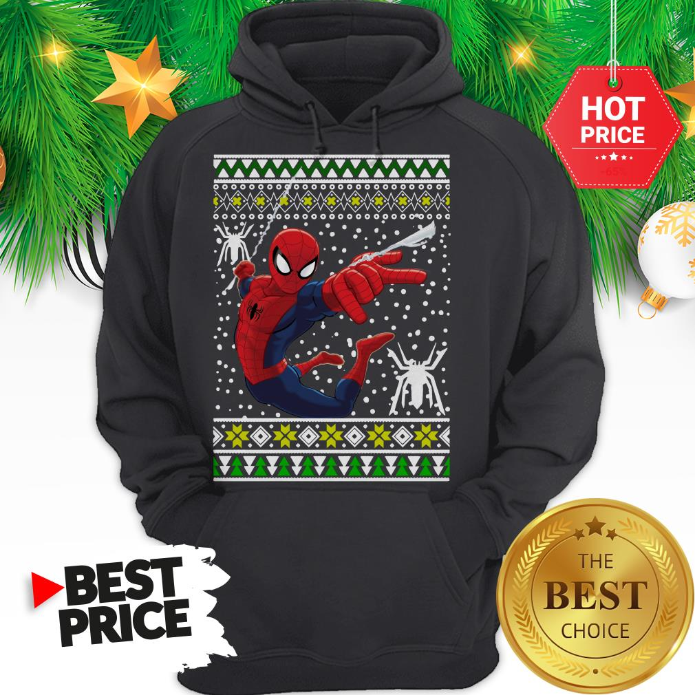 Official Amazing Spiderman ugly Christmas Hoodie