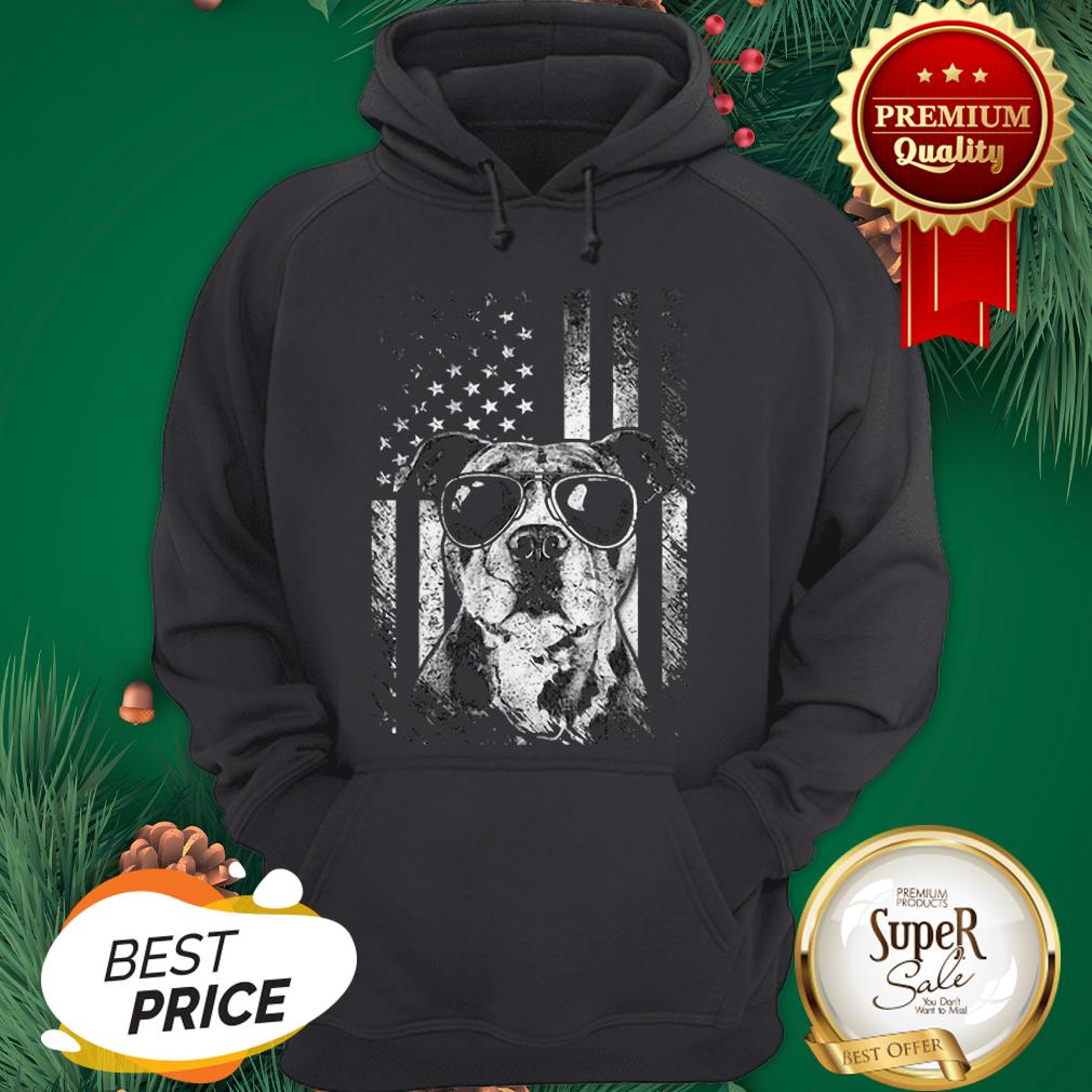 Official American Flag Pitbull Sunglass Hoodie