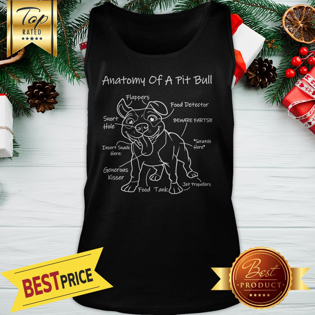 Official Anatomy Of A Pit Bull Tank Top