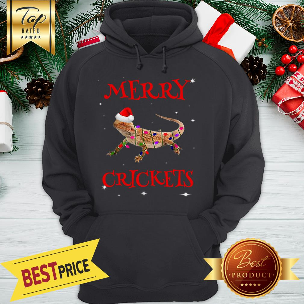 Official Bearded Dragon Merry Crickets Christmas Hoodie