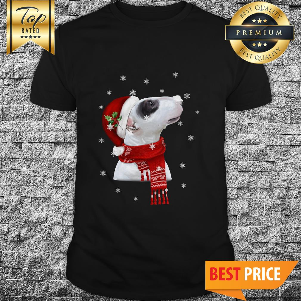 Official Bull Terrier With Christmas Shirt