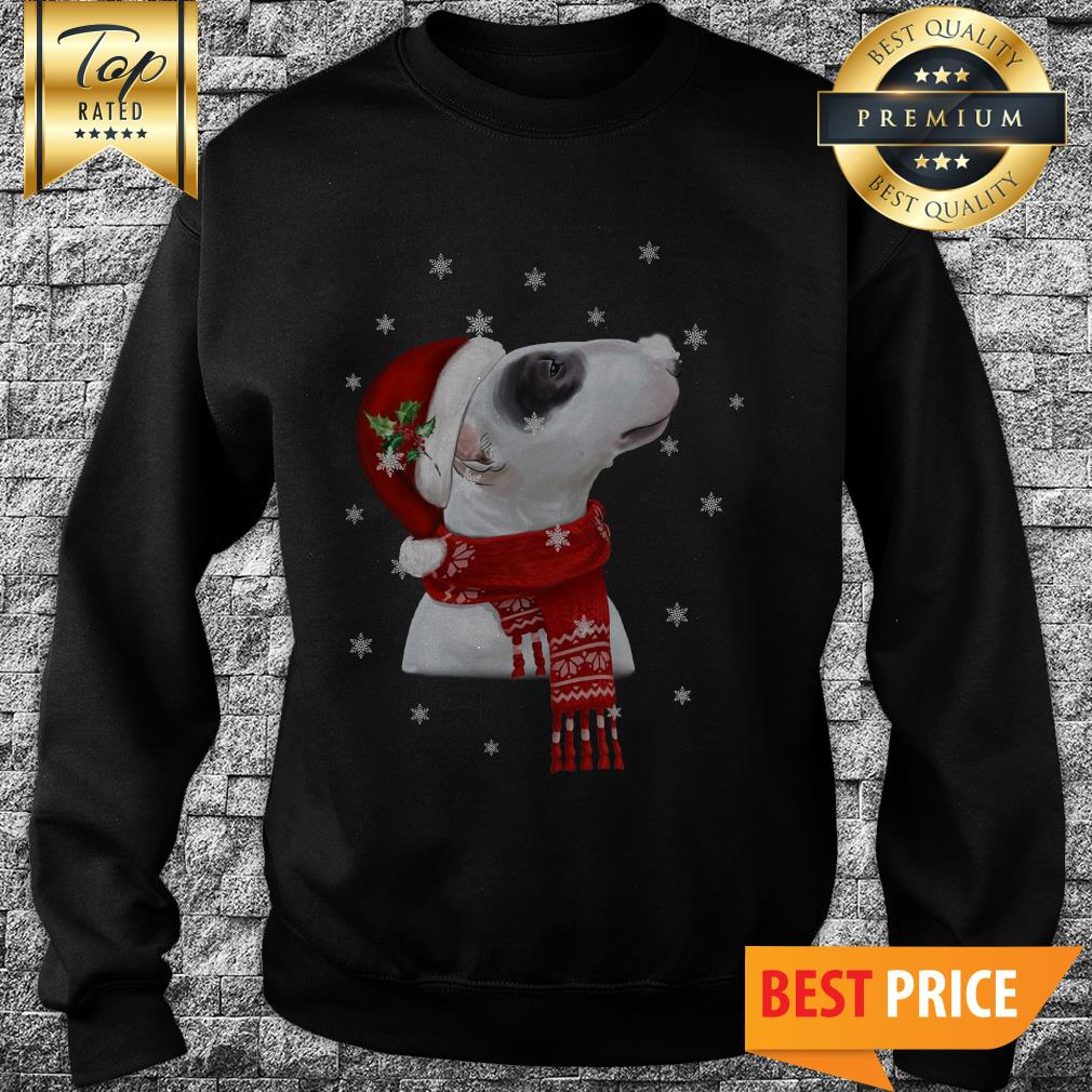 Official Bull Terrier With Christmas Sweatshirt