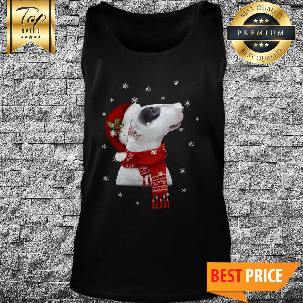 Official Bull Terrier With Christmas Tank Top