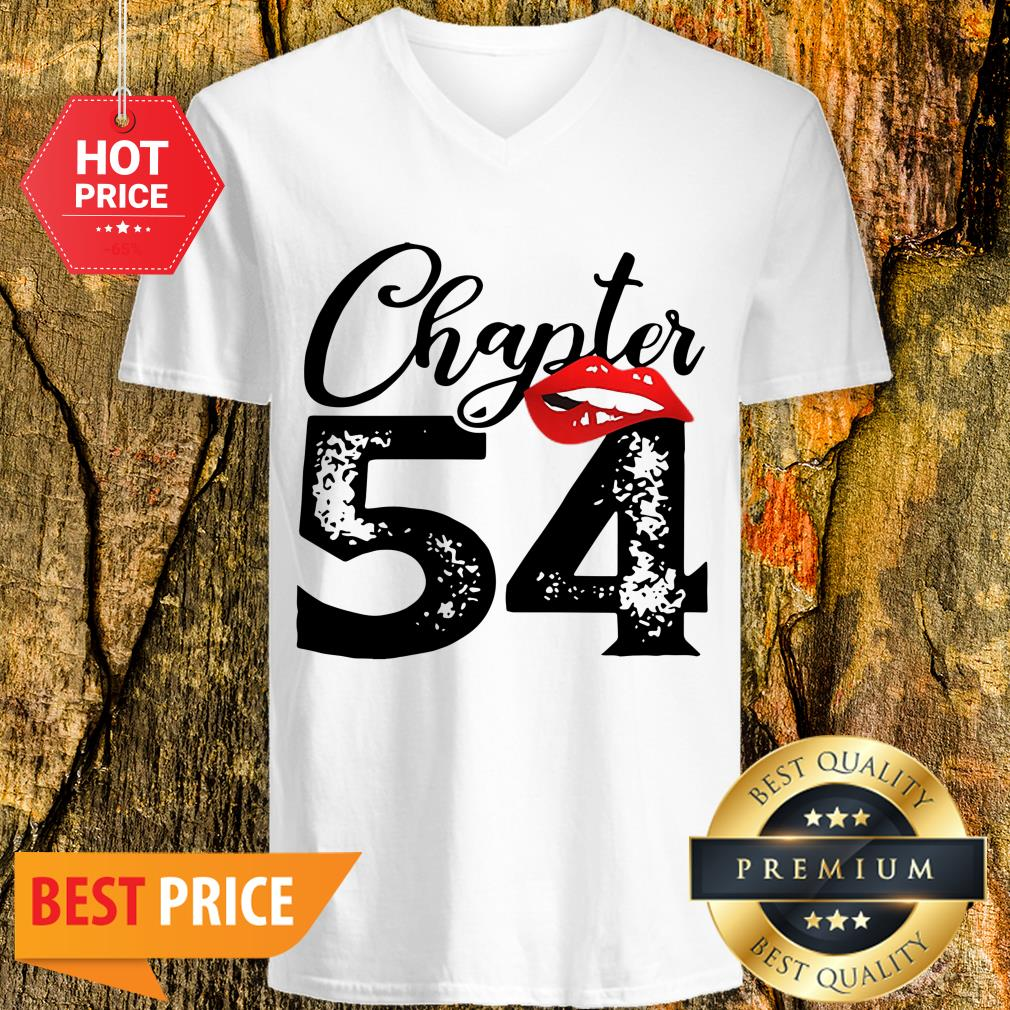 Official Chapter 54 Lips Happy 54th Birthday V-neck