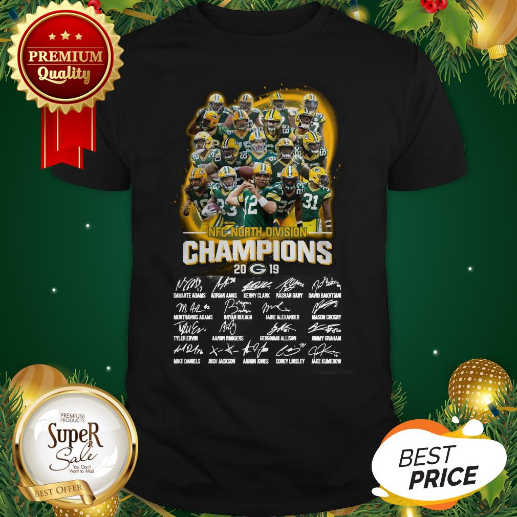 Official Green Bay Packers NFC North Division Champions 2019 Signatures Shirt