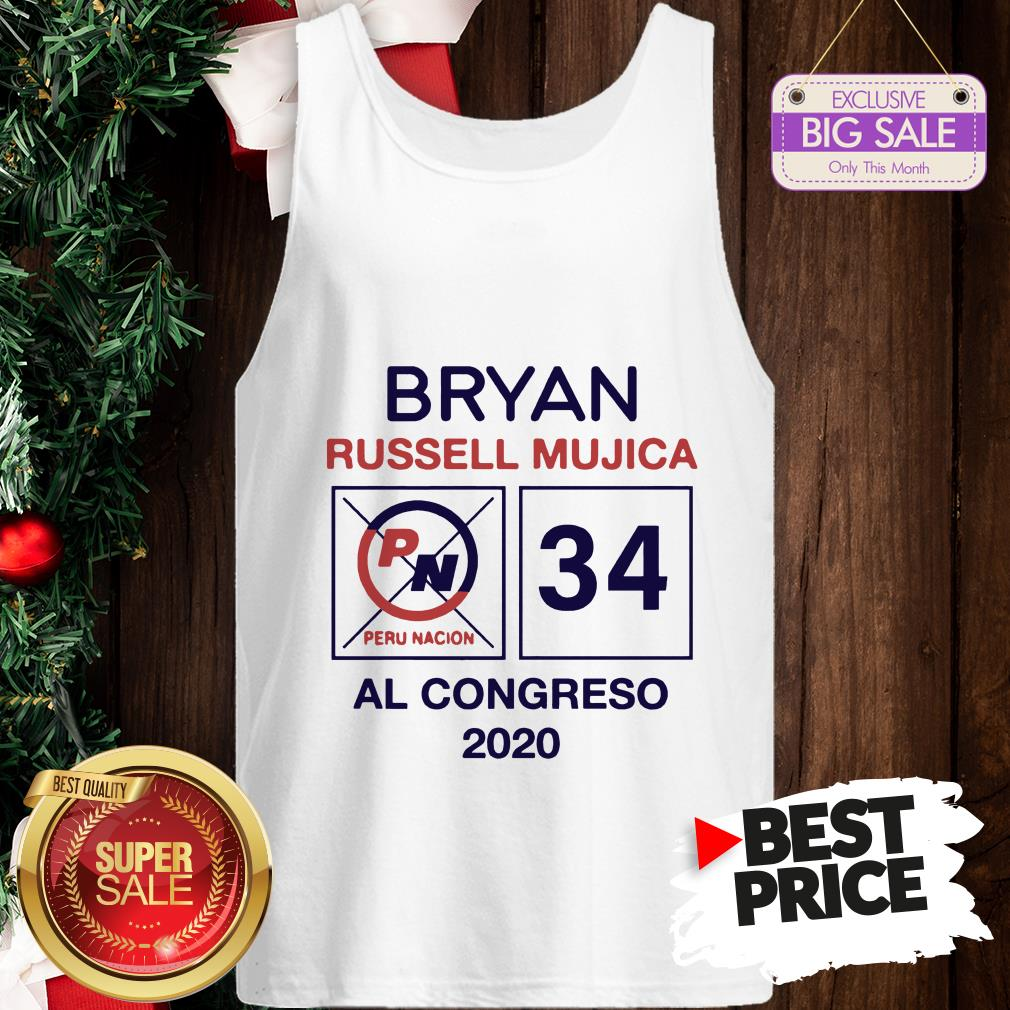Official Hot Bryan Russell Mujica Al Congreso 2020 Tank Top