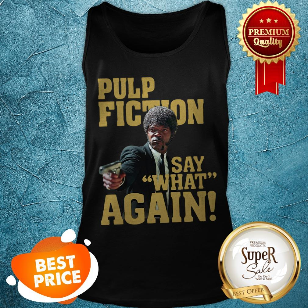 Official Jules Winnfield Pulp Fiction Say What Again Tank Top