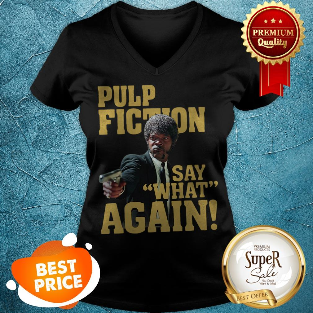 Official Jules Winnfield Pulp Fiction Say What Again V-neck