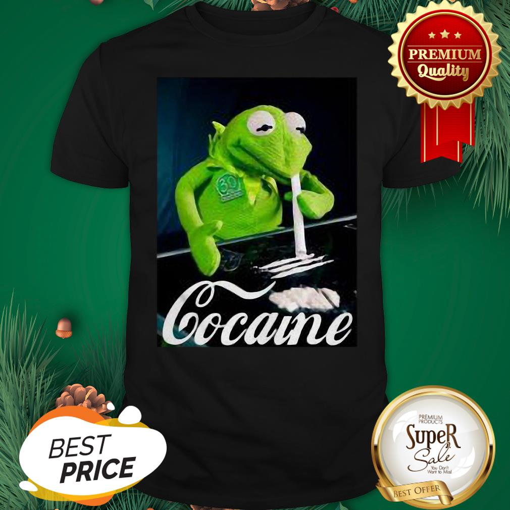 Official Kermit The Frog Snorting Crack Cocaine Shirt