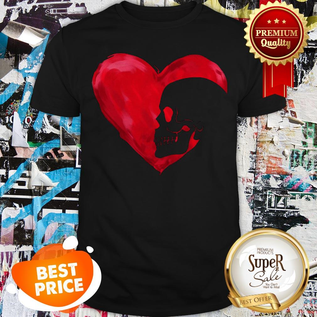 Official Love Skull Red Heart Shirt