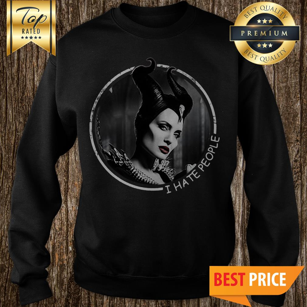 Official Maleficent I Hate People Sweatshirt