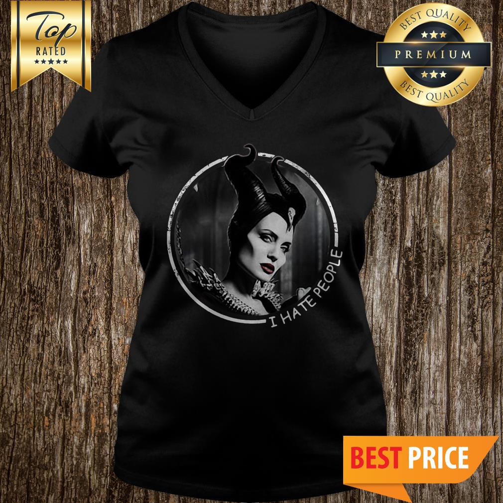 Official Maleficent I Hate People V-neck