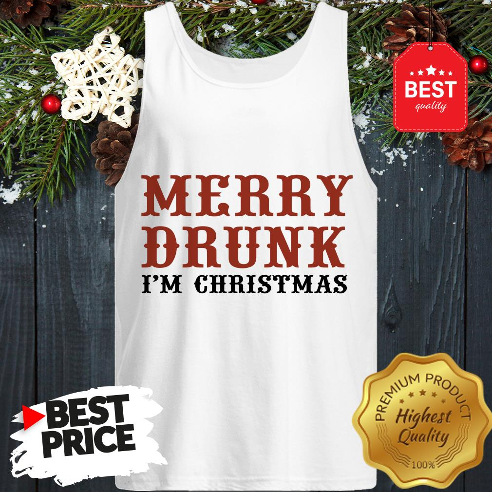 Official Merry Drunk I'm Christmas Tank Top